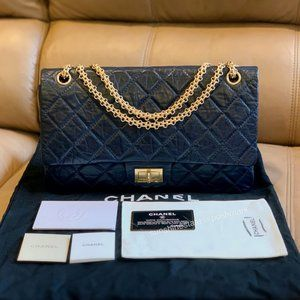 Authentic Chanel Classic Quilted Double Flap 2.55